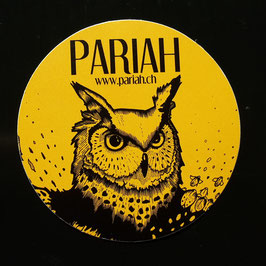 Sticker Owl yellow