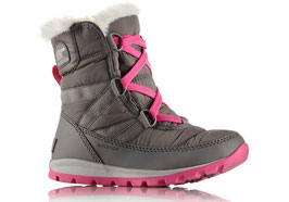 Sorel Youth Whitney Short Lace Quarry, Pink Ice
