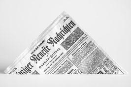 """Pommestüten """"Leipziger Neueste Nachrichten"""""""