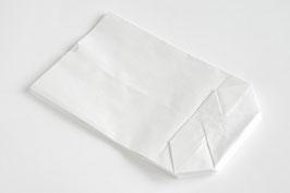Kreuzbodenbeutel weiß 16,5 x 26 cm