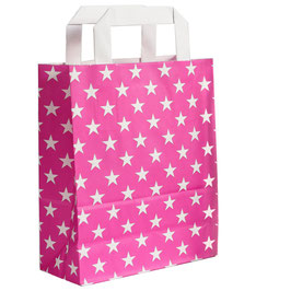 Pinke Tasche mit Sternen