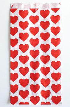 Faltenbeutel rote Herzen