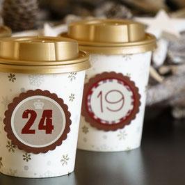 Adventskalender aus Coffee to go Bechern
