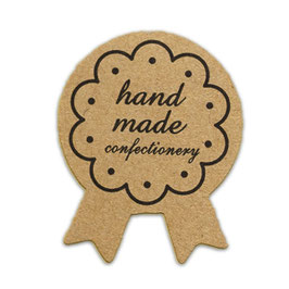 "10 Stück Sticker ""Handmade Confectionery"""
