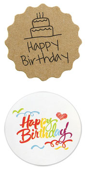 "10 Stück Sticker ""Happy Birthday"""