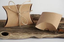 3 Stück kleine Kissenschachteln mit Juteband