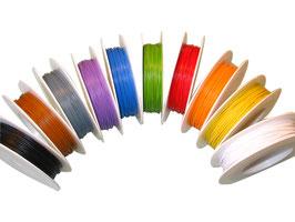 25 Meter Miniaturkabel Litze LIFY 0,14 mm² gelb
