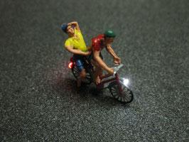 Fahrrad mit LED Beleuchtung H0 - zwei Personen