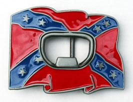 Boucle de ceinture décapsuleur drapeau confédéré
