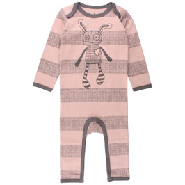 "Small Rags Strampler ""Real Romper"", Misty Rose gestreift"