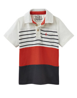 "Joules, Jungen Poloshirt ""Tomflag"", Rot"