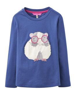 "Joules, Mädchen Langarmshirt Ava ""Guinea Pig"", Blau"