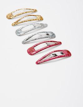 Joules, Haarclips, Glitter - 3er Pack