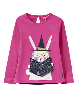 "Joules Langarmshirt Chomp ""Magic Book"", Pink"