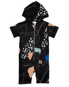 "Mainio, Hooded Jumpsuit ""Sisu"", Schwarz"