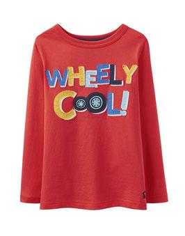 """Joules, Langarmshirt """"Jack"""", Wheely Cool! - Rot"""