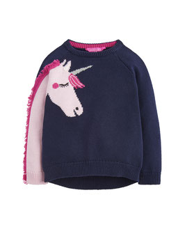 "Joules, Mädchen Pullover ""Gee Gee"" Unicorn, Navy"