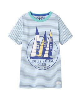 """Joules Jungen T-Shirt """"BEN"""", Aqua Sail gestreift"""