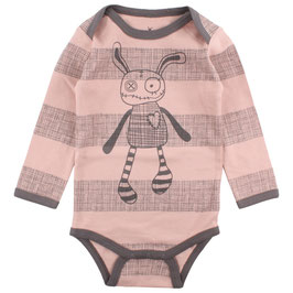 "Small Rags Baby Body ""Real"", Misty Rose gestreift"