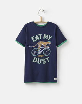 "Joules Jungen T-Shirt Wildside ""EAT MY DUST"", Blau"