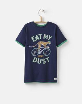 "Joules Jungen T-Shirt Wildside ""EAT MY DUST"", Blau"