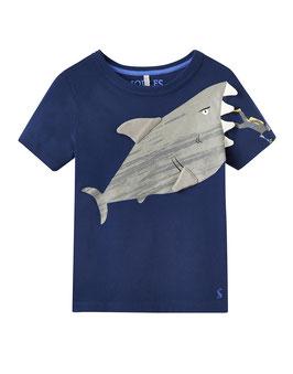 """Joules Jungen T-Shirt Archie """"Navy Shark"""""""
