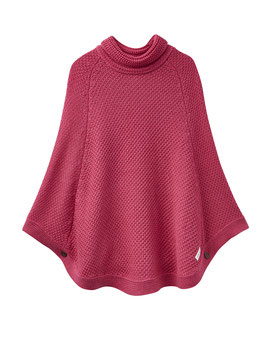 "Joules, Mädchen Strickponcho ""Tess"", Pink"
