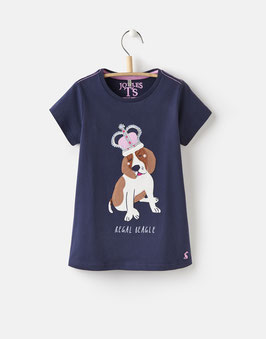 "Joules, Jersey T-Shirt ""ASTRA"", Navy Dog"