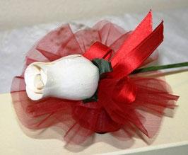 Rosa in foglia di legno