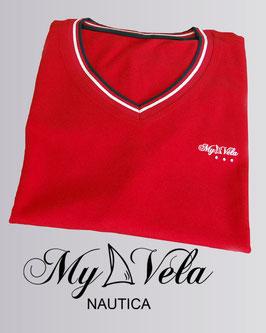 Camiseta Náutica Mujer roja