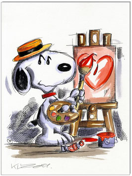 Snoopy Painter Artist