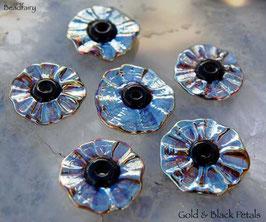 6 Gold and Black Petals