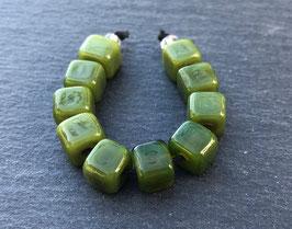 10 Olive Green Mini Cubes