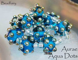 1 Pair Aqua Blue Aurae Dots