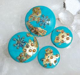 4 Golden Turquoise Spree Lentils