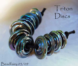 11 Triton Slim Discs Metallic Blue Silver