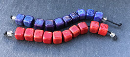 10 Red or Purple Mini Cubes