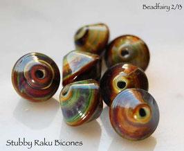 7 Stubby Raku Bicones