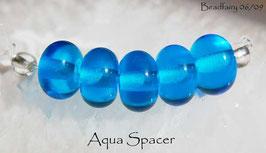 Aqua Blue Spacer Beads