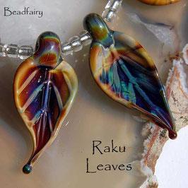 7 Raku Leaves
