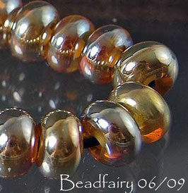 30 Mini Golds Metallic Golden Silvery Rondelle Beads Accent Beads