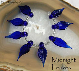 8 Midnight Blue Leaves