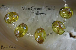 5 Mini Green Gold Hollows