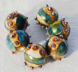 1 Earring Pair * Organic Bling Spheres