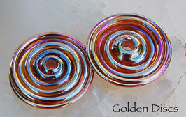 Golden Discs, in metallic gold with pink hues