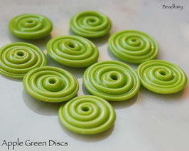10 Apple Green Slim Discs