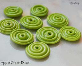 10 Apple Green Slim Discs