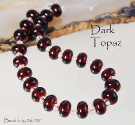 Dark Topaz Spacer Beads