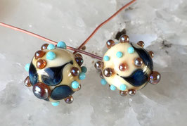 1 Pair * Organic Dots Ball Headpins *