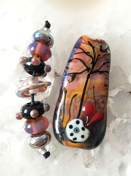 Soul Comforter Focal Tree of Life & 7 Accent Beads
